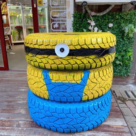 轮胎剪切画_养花从不买花盆,都是这些东西做的! - 花百科