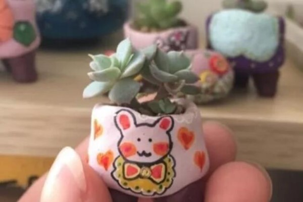 抢了侄子的橡皮泥,竟然拿去做花盆,比买的还好看!