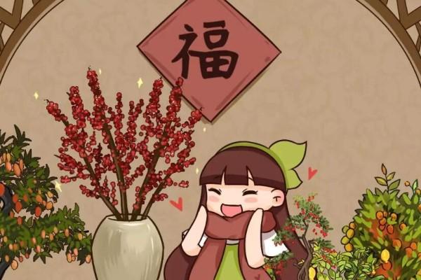新年养盆吉祥树,天越冷越红火,添子添福好运来!